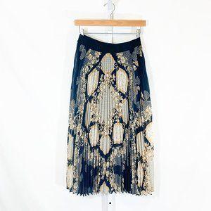 Hale Bob Pleated Midi Skirt